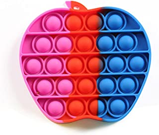 GOODONE2 Push Pop Apple Bubble Popping Fidget Toy For Kids & Adults, Rainbow Novelty Gifts for Kids (Apple Multicolor2)