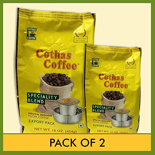 Cothas Coffee South Indian Filter Coffee (Pack of 2) Each Pkt 1 Lbs ( 454 Gms)
