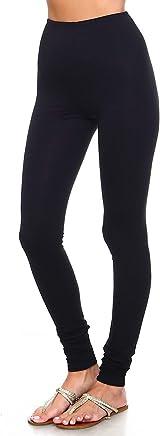 3f5c25266215d Simplicitie Women's Premium Ultra Soft High Waist Leggings - Regular and Plus  Size - Black -