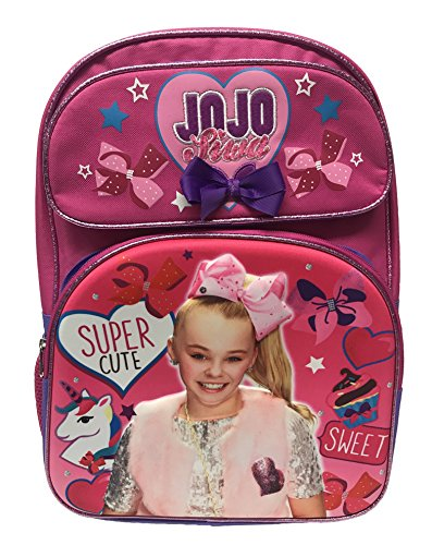 JoJo Siwa'Super Cute' 16' 3D Pink, Large Backpack, School Bag, Rucksack, Travel Bag