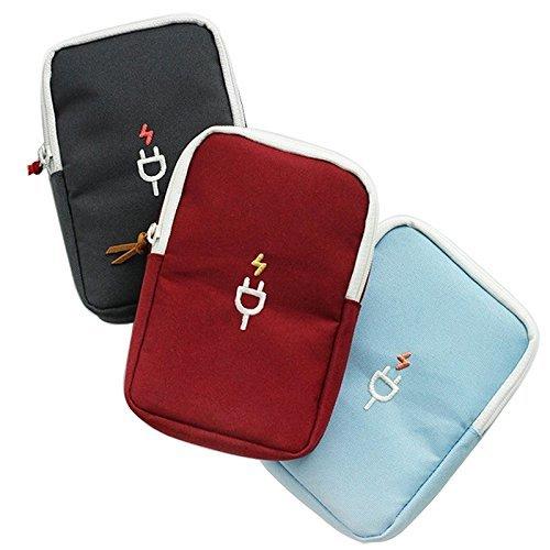 三个装,颜色随机奈菲乐NAPHELE 便携式多功能数码包 手机耳机线鼠标收纳包 充电宝收纳袋 TB38