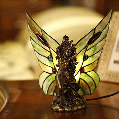 Lámparas de escritorio FHW Dormitorio guiado Noche Creativa Noche luz Cosecha Retro romántico, Mariposa escultil lámpara Lámparas de escritorio