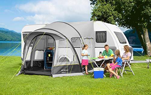 Berger Reisevorzelt Garda-L Deluxe grau ohne Gestänge aufblasbar Wohnwagen Camping Urlaub