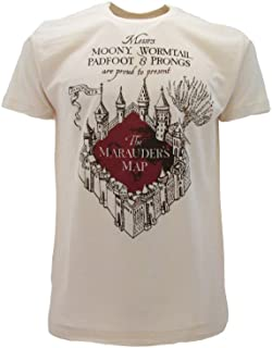 Camiseta original de Harry Potter Marauder's Map Marauders, color beige, producto oficial