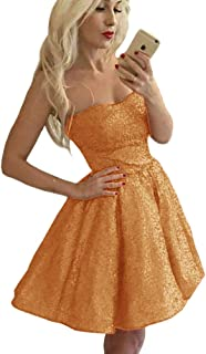 Jonlyc 2019 Sparkly A Line Strapless Short Sequined Homecoming Dresses for Juniors