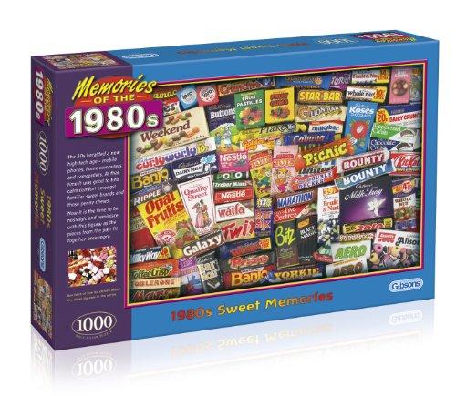 """Gibsons Puzzle """"Sweet Memories"""", Motiv: Einkaufen in den 1980er-Jahren, Puzzle mit 1.000 Einzelteilen"""