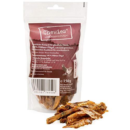 Chewies Hühnerflügel Kauspaß - 150 g - Natürlicher Kausnack für Hunde - Schonend getrocknet & ohne Zusatzstoffe - Hundesnack vom Huhn