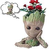 LIQING Cartoon Puppe Groot Tree Man Blumentopf Galaxy Guard Leichte Stifthalter Pflanze Blumentopf...