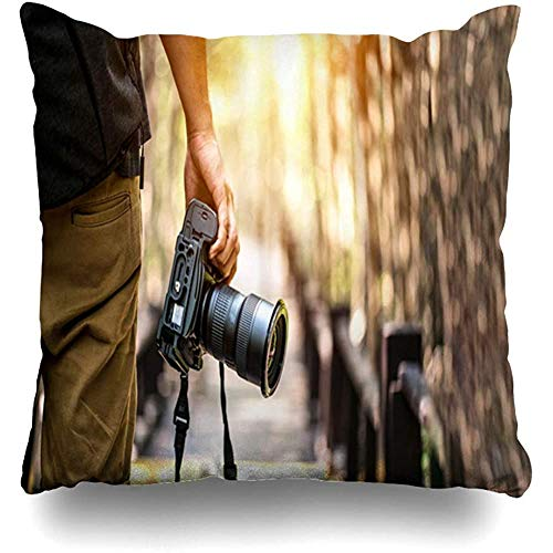 SSHELEY Kussensloop camera natuurfotografie professionele fotograaf reizen digitale lifestyle detail man lens kussensloop