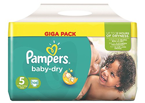 Pampers Baby Dry Größe 5 Junior 11-25kg Giga Pack (108 Windeln)