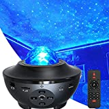 Star Night Light Projector Bedroom, MJDUO Ocean Wave Projector w/LED Starlight Cloud and Bluetooth Music Speaker As Gifts Decor Birthday Party Wedding Bedroom Living