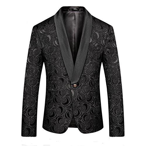 Cole Haan Men's Slim Fit Blazer, Brown/Blue Plaid, 40 Regular