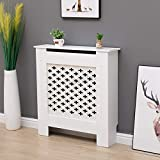 <span class='highlight'><span class='highlight'>WestWood</span></span> White Painted Radiator Cover Wall Cabinet Wood MDF Traditional Modern Cross Small