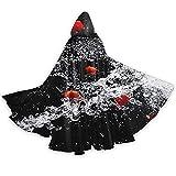 Pimentón Salpicaduras de agua de longitud completa con capucha capa capa capa traje cosplay disfraz de lujo capa de Halloween decoraciones fiesta