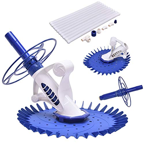 Save %21 Now! Blessing2220 Automatic Swimming Pool Cleaner Set with 10 Hoses for In-ground Above Gro...