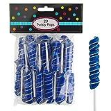 HollyDel Royal Blue Twisty Lollipops 20pc Battle Party Supplies