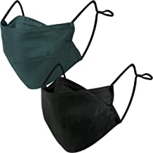 BASE CAMP Reusable Cloth Face Masks 100% Cotton Washable Adjustable Breathable Fabric Mask with Filter Pocket