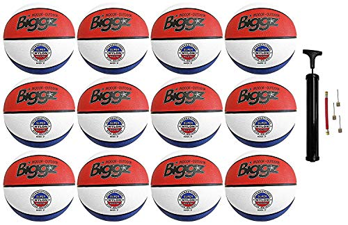 Purchase Jsport (Pack of 12) Official Size 7 Basketballs - Red/White/Blue Bulk Basketballs