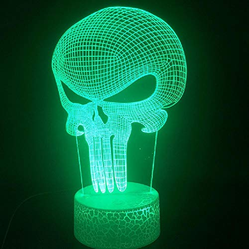3D Lampe Anti-Hero Schädel Punisher Frank Castle Bluetooth Lautsprecher Basis Dekoration Schiff Für Kinder Usb Led Nachtlicht Lampe
