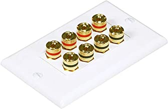 iMBAPrice Premium Banana Wall Plate – 8 Coupler Type Connectors Banana Plug Binding..