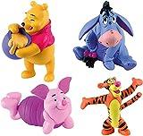 Bullyworld Bullyland Winnie Puh - 4er Figuren Set mit Winnie Pooh, Eeyore, Piglet and Tigger