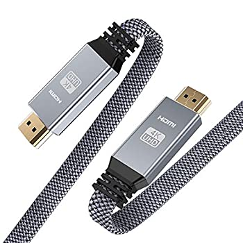 HDMI Cable 6.6ft  4K 60HZ HDMI 2.0 18Gbps  Snowkids 4K Flat High Speed HDMI 2.0 Cable Braided HDMI Cord Support 3D 4K HDR 2160P 1080P HDCP 2.2 ARC Ethernet 4K UHD TV/HD TV Blu-ray Monitor-Gray