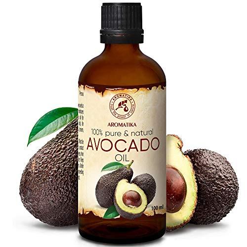 Avocadoöl 100ml - Kaltgepresst & Raffiniert - 100% Reines - Glasflasche - Avocado Öl - Intensive...