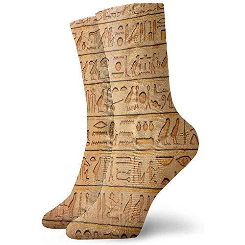 Dydan Tne Egipto Jeroglífico Piedras Histórico Primitivo Novedad Calcetines de Equipo Calcetines Deportivos