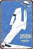 Michael Jackson Concert Poster Vintage étain Signe Fer Peinture rétro métal Signe Plaque Art décoration Murale pour Bar café Bureau hôtel extérieur 8 × 12 Pouces