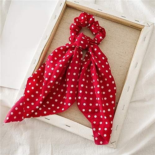 PLI Dames haarelastiekjes sjaal elastische haartouw voor vrouwen haarstrikken stropdas haarelastiekjes bloemenprint band