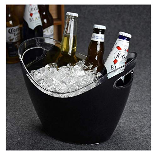 Cubo de Hielo Duradero Cubo de Cubitos de Hielo, Botellas de Vino Cubo de Enfriador de champán, con asa de Transporte,para jardín/Mesa/Bar/Fiestas/Cerveza (Color: Amarillo, Tamaño: S)