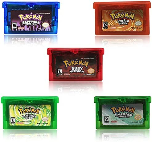 Cenxaki 5 Pcs Game Cartridge Card for Pokemon Gameboy GBA Game Cards US Version product image