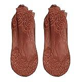 Calcetines Invisibles Femeninos Calcetines Transparentes de Encaje con Boca Poco Profunda Calcetines ultrafinos de Primavera y Verano