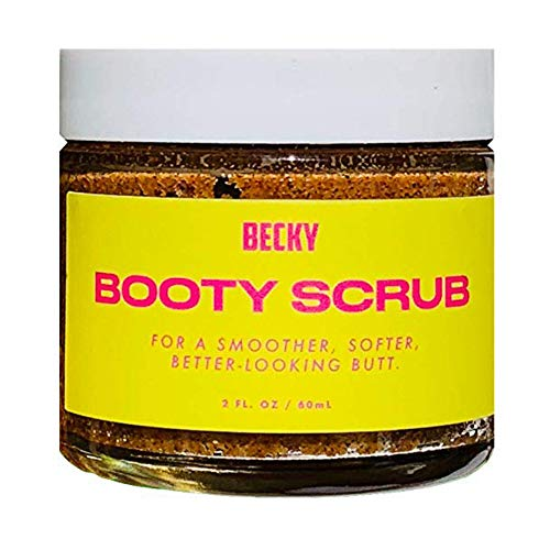 Natural Walnut Body & Booty Scrub with Organic Aloe Vera Leaf Juice and Jojoba Seed Oil - Premium Exfoliating Scrub for Cellulite, Stretch Marks, Acne, and Dry Skin - Specifically for Legs & Butt