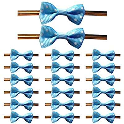 100Pcs Bowknot Tie Twist Ties for Cake Candy Co...
