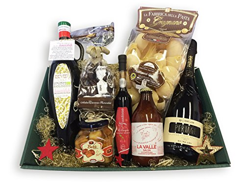 Geschenkset Feinkost Geschenkkorb IL MEGLIO D'ITALIA mit ausgesuchten italienischen Spezialitäten