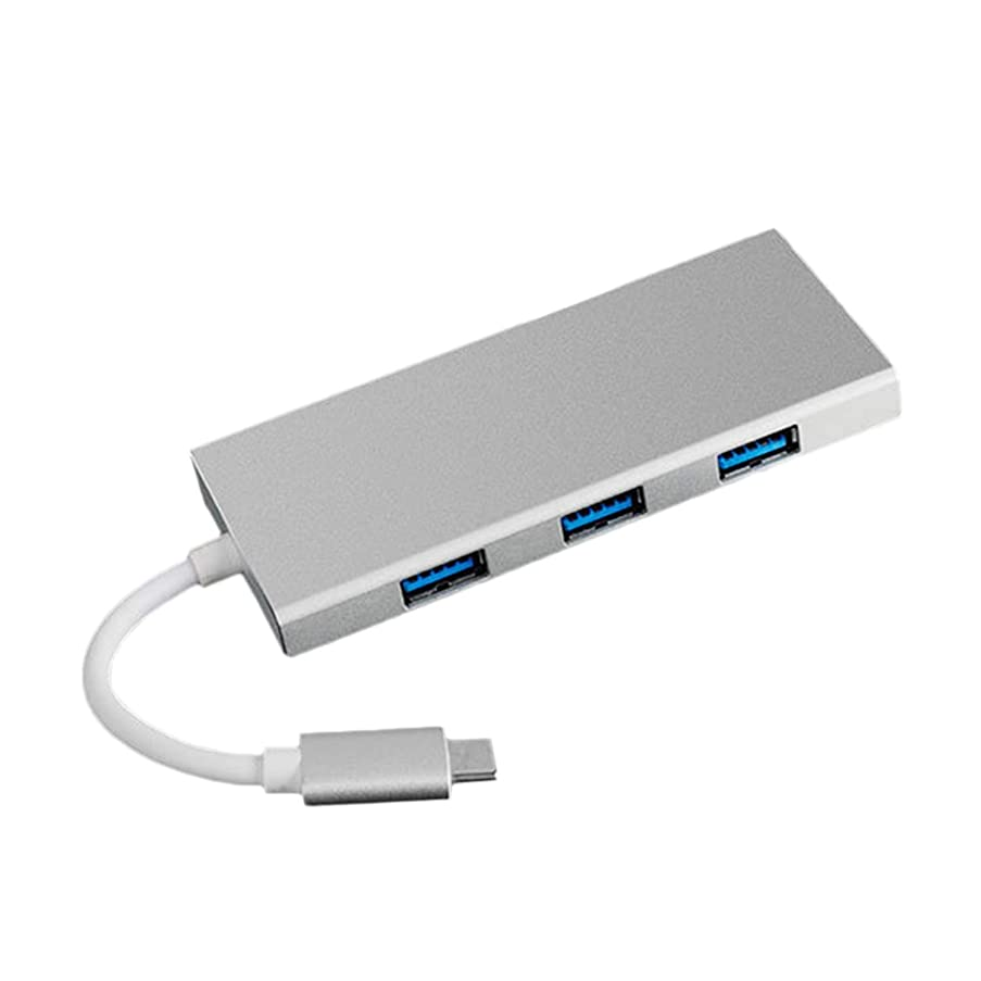 USB Type-C Hub,7-in-1 USB Type-C Hub Type-C to HDMI Converter Adapter 4K Video HD TF Card Reader Multifunction USB 3.0 HUB for MacBook