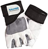 Salter E-237/M - Guantes para fitness, color blanco / gris, talla M