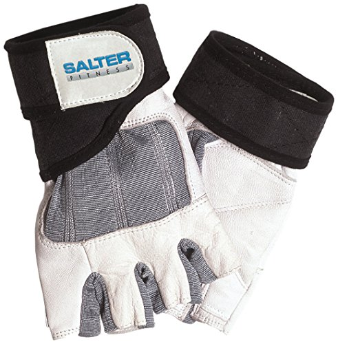 SALTER E-237/L Guantes de Fitness, Unisex, Blanco, L