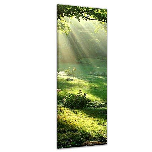 Bilderdepot24 Bild auf Leinwand | Wiese I in 30x90 cm als Panorama Wandbild | Wand-deko Dekoration Wohnung modern Bilder | 202627