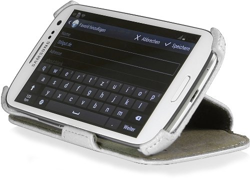 StilGut UltraSlim Case V2, Custodia con Funzione di Supporto per Samsung Galaxy S3 & S3 Neo, Bianco