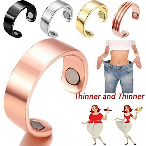 2PCS Magnetic Therapy Finger Ring for Women/Man,Bio Weight Loss Finger Ring Stimulating Acupoints Finger Ring Magnetic Therapy, for Arthritis Pain Relief Magnets, Weight Loss Ring Fat Burning Slimming