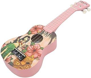 Dequate Ukuleles Infantil,21 Pulgadas Ukulele Instrumento, Ukelele Hawaiano para Niño Adulto,Niña