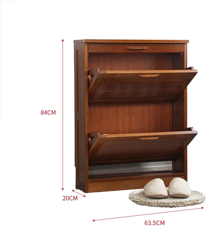 Shelves ZR Schuhregal für den Eingangsbereich, Retro-Schubladenregal, für Flur, Schrank Spind – Wanddekoration, Holz, 2 Layer