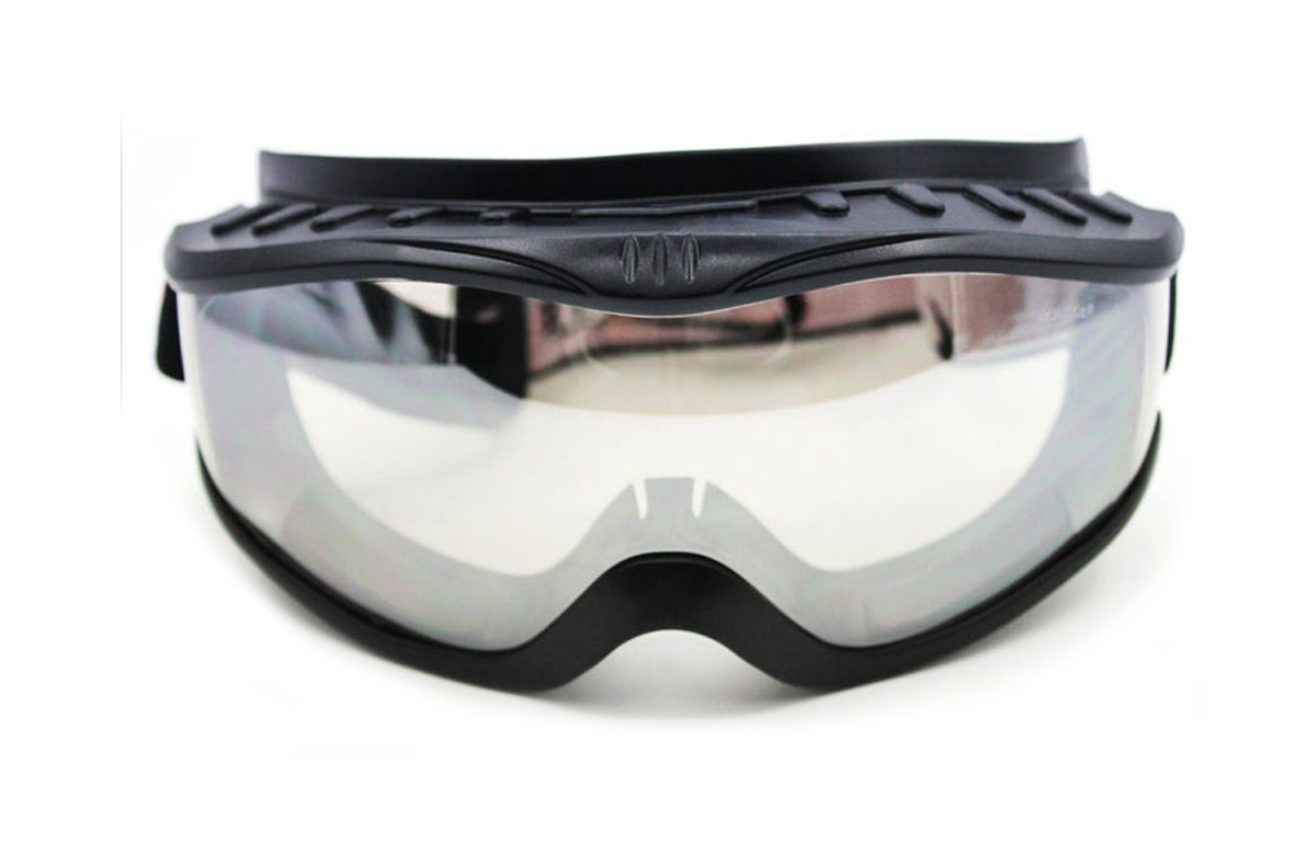 MOTORCYCLE Riding Padded Safety Protective GOGGLES Anti-Fog Lens Fit Over Helmet