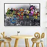 ganlanshu Anime Hero Hot Movie Poster Moderno Arte de la Pared decoración del hogar Pintura sobre Lienzo,Pintura sin Marco,40X60cm