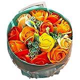 ソープフラワー ローズブーケ 花束 ギフトバッグ付き FPP-809 (オレンジ)