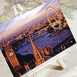 Ciudad encantadora de la ciudad-Londres/Ciudad Paisaje Arquitectura HD Postal de viaje Postal/Tarjeta 6 / Set Plztou