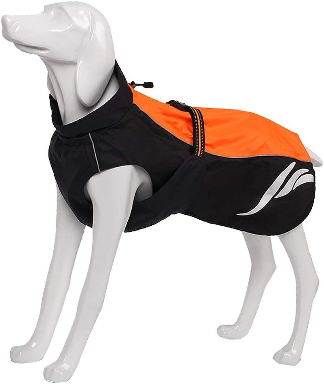 LSLMCS Pet Supplies Pet Clothes Dog Clothes golden Hair Clothing Satsuma Windproof Outdoor Pet Supplies, orange, Green, Black (27cm70cm) (color   orange, Size   33cm)