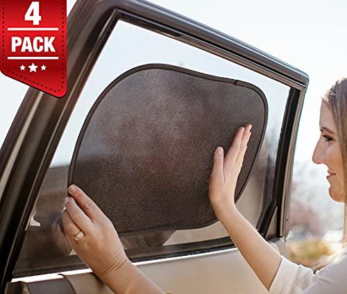 Magnelex Car Window Shade - (4 Pack) - 20'x12' Cling Sunshade for Car Windows -...
